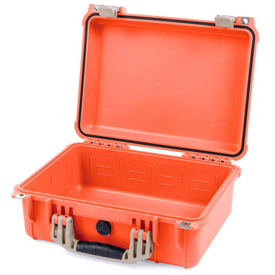 Pelican 1450 Colors Series, Orange Protector Case with Desert Tan Handle & Latches, Customizable Accessory Bundles - Pelican Color Case