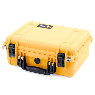 Pelican 1450 Colors Series, Yellow Protector Case with Black Handle & Latches, Customizable Accessory Bundles - Pelican Color Case