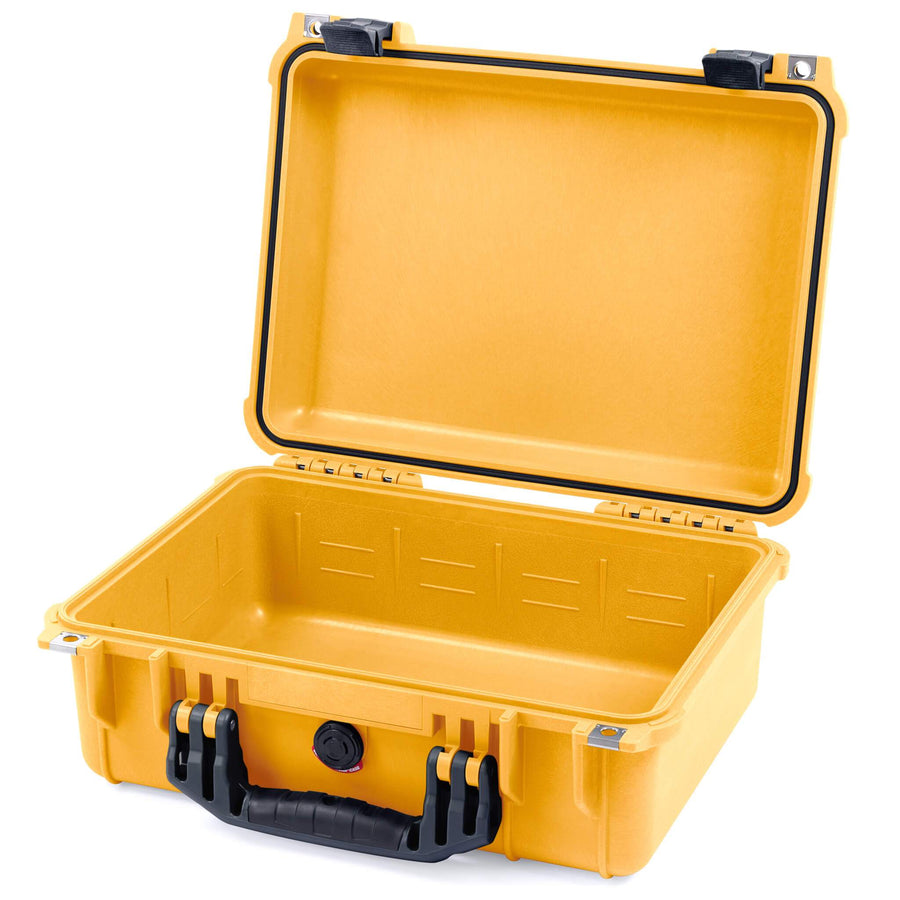 Pelican 1450 Colors Series, Yellow Protector Case with Black Handle & Latches, Customizable Accessory Bundles