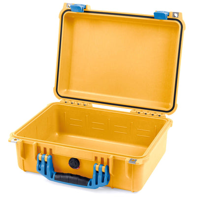 Pelican 1450 Case, Yellow with Blue Handle & Latches - Pelican Color Case