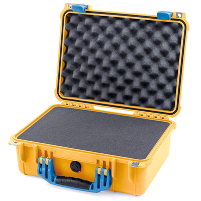 Pelican 1450 Colors Series, Yellow Protector Case with Blue Handle & Latches, Customizable Accessory Bundles - Pelican Color Case