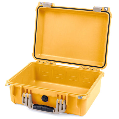 Pelican 1450 Case, Yellow with Desert Tan Handle & Latches - Pelican Color Case