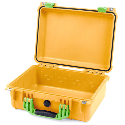 Pelican 1450 Colors Series, Yellow Protector Case with Lime Green Handle & Latches, Customizable Accessory Bundles - Pelican Color Case