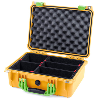 Pelican 1450 Case, Yellow with Lime Green Handle & Latches - Pelican Color Case