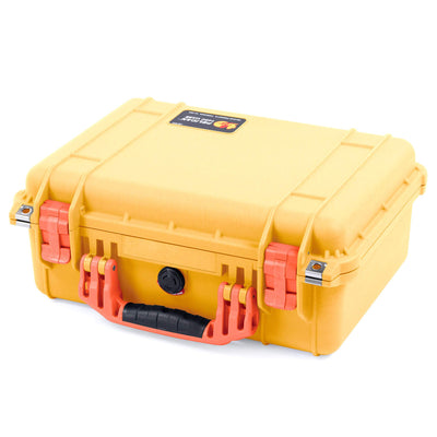 Pelican 1450 Colors Series, Yellow Protector Case with Orange Handle & Latches, Customizable Accessory Bundles - Pelican Color Case