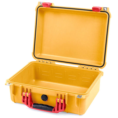 Pelican 1450 Case, Yellow with Red Handle & Latches - Pelican Color Case