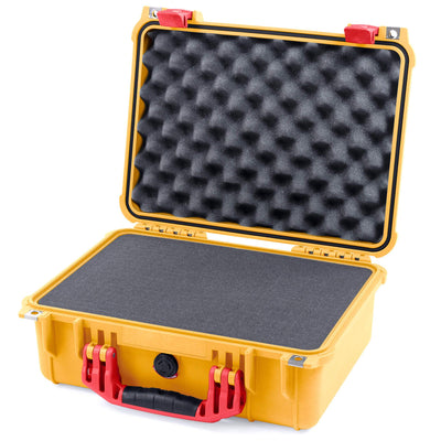 Pelican 1450 Colors Series, Yellow Protector Case with Red Handle & Latches, Customizable Accessory Bundles - Pelican Color Case