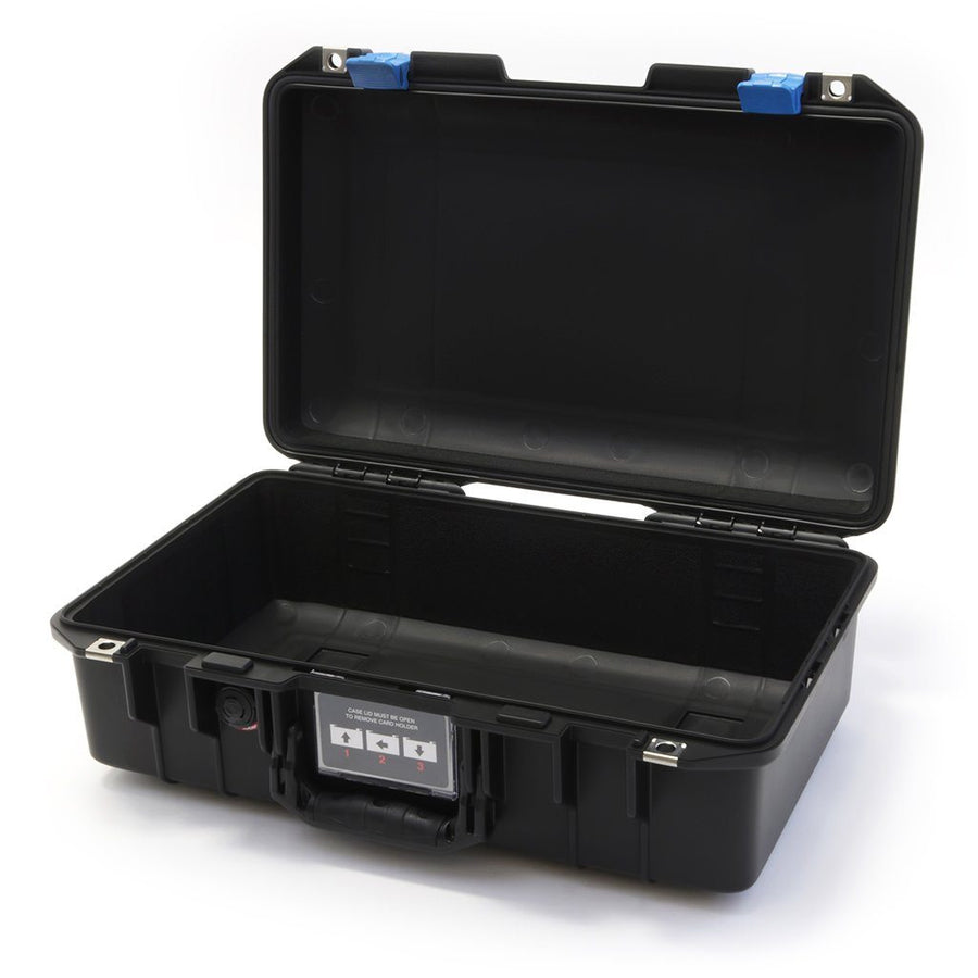 Pelican 1485 AIR COLORS Series, Black Protector Case with Blue Latches, Customizable Accessory Bundles