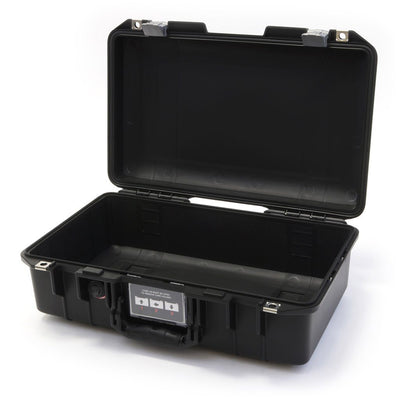Pelican 1485 Air Colors Series, Black Air Case with Silver Gray Latches, Customizable Accessory Bundles - Pelican Color Case