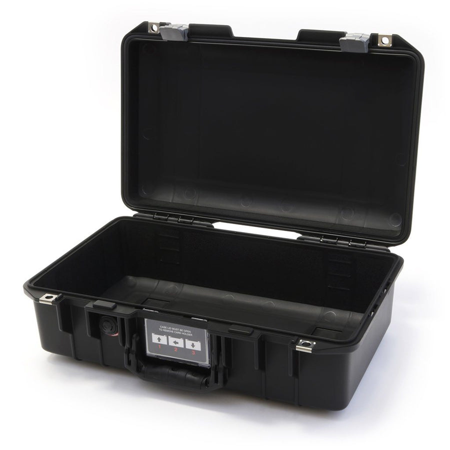 Pelican 1485 AIR COLORS Series, Black Protector Case with Silver Gray Latches, Customizable Accessory Bundles