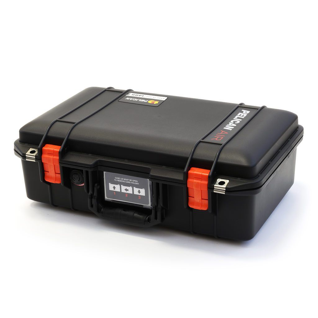Pelican 1485 Air Case, Black with Orange Latches - Pelican Color Case