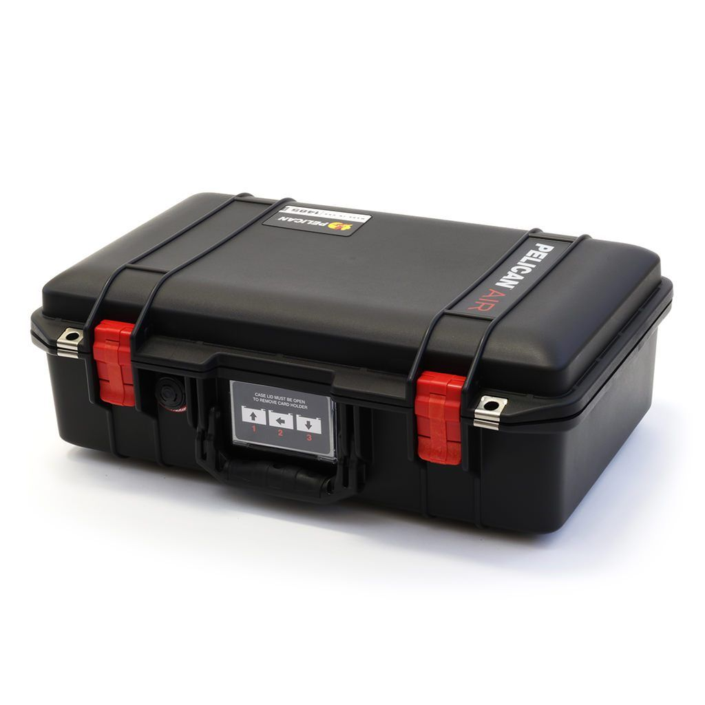 Pelican 1485 Air Colors Series, Black Air Case with Red Latches, Customizable Accessory Bundles - Pelican Color Case