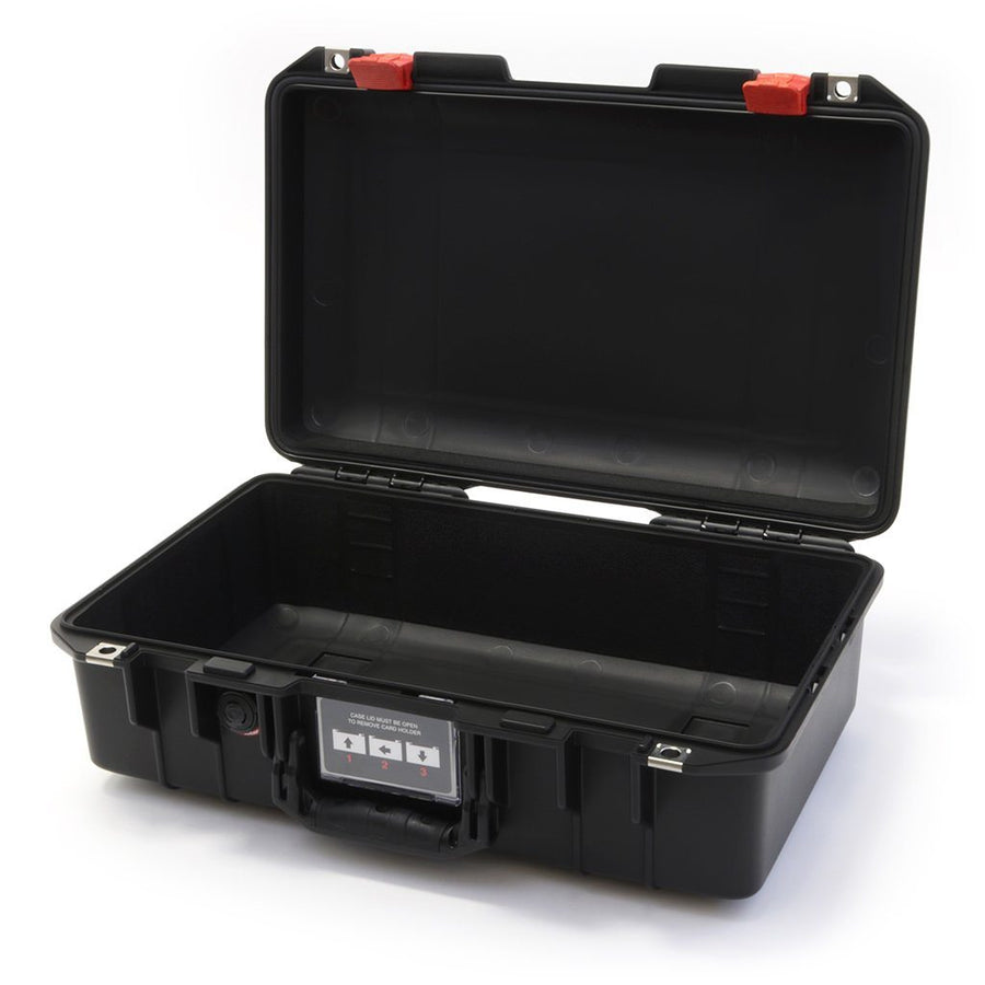 Pelican 1485 AIR COLORS Series, Black Protector Case with Red Latches, Customizable Accessory Bundles