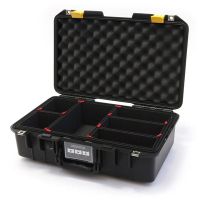 Pelican 1485 Air Case, Black with Yellow Latches - Pelican Color Case