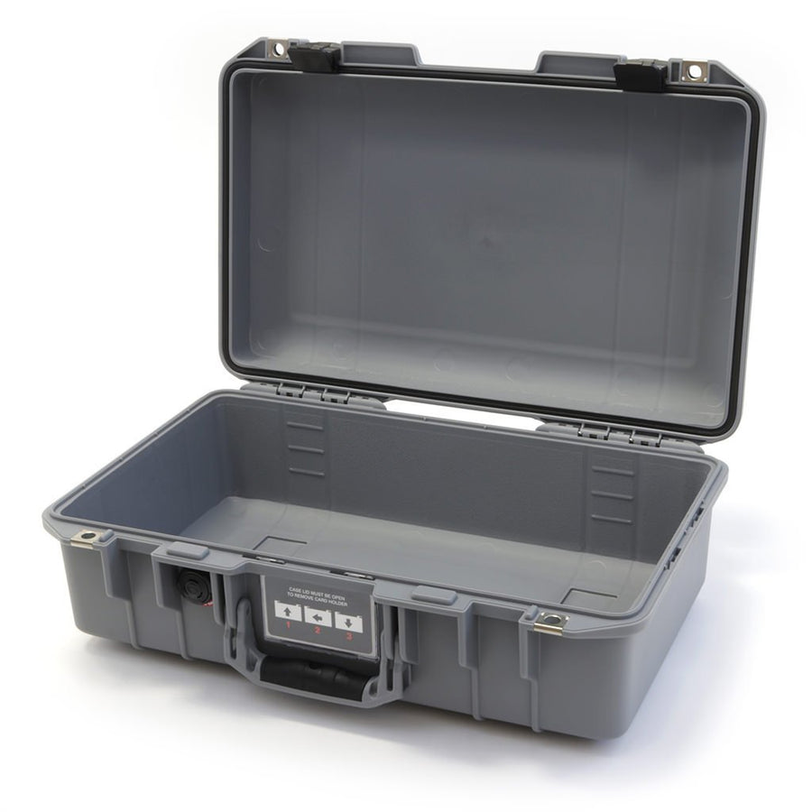 Pelican 1485 AIR COLORS Series, Silver Gray Protector Case with Black Latches, Customizable Accessory Bundles