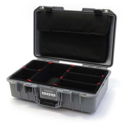 Pelican 1485 Air Case, Silver with Black Latches - Pelican Color Case