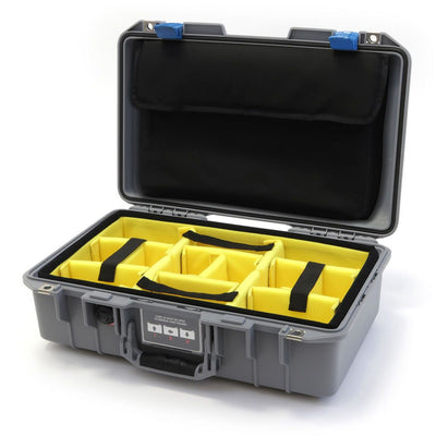 Pelican 1485 Air Case, Silver with Blue Latches - Pelican Color Case