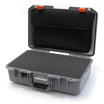 Pelican 1485 Air Case, Silver with Orange Latches - Pelican Color Case