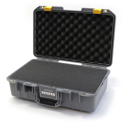 Pelican 1485 Air Colors Series, Silver Gray Air Case with Yellow Latches, Customizable Accessory Bundles - Pelican Color Case