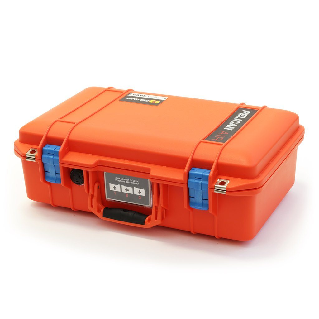 Pelican 1485 Air Colors Series, Orange Air Case with Blue Latches, Customizable Accessory Bundles - Pelican Color Case
