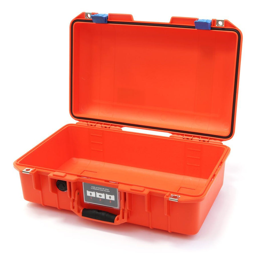Pelican 1485 AIR COLORS Series, Orange Protector Case with Blue Latches, Customizable Accessory Bundles