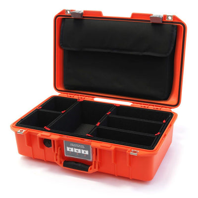Pelican 1485 Air Colors Series, Orange Air Case with Silver Gray Latches, Customizable Accessory Bundles - Pelican Color Case