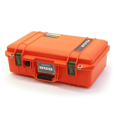 Pelican 1485 Air Case, Orange with OD Green Latches - Pelican Color Case