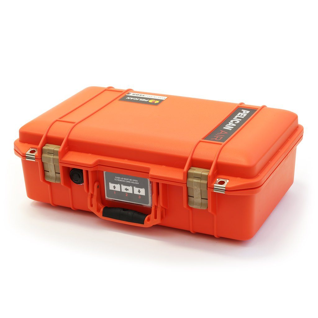 Pelican 1485 Air Case, Orange with Desert Tan Latches - Pelican Color Case