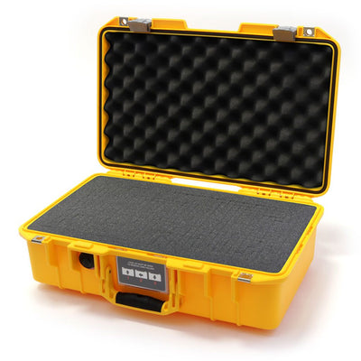 Pelican 1485 Air Colors Series, Yellow Air Case with Silver Gray Latches, Customizable Accessory Bundles - Pelican Color Case