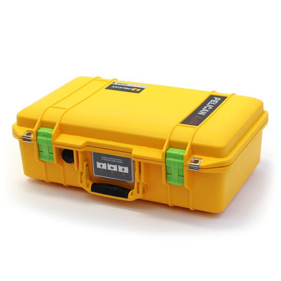 Pelican 1485 Air Colors Series, Yellow Air Case with Lime Green Latches, Customizable Accessory Bundles - Pelican Color Case
