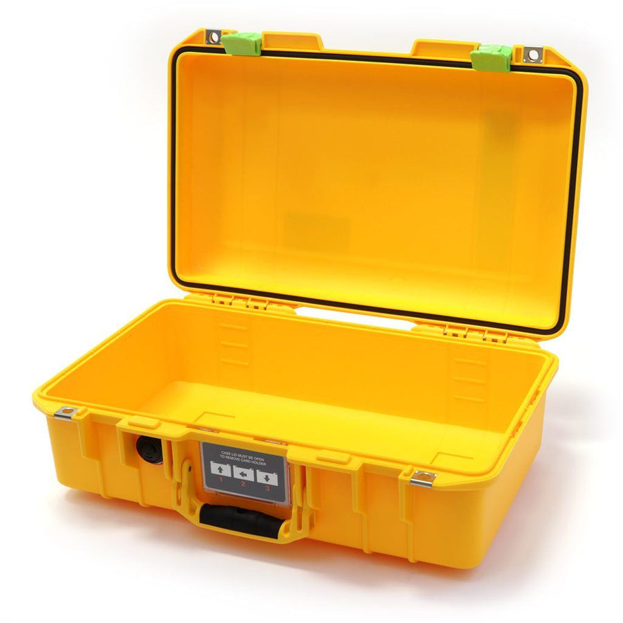 Pelican 1485 AIR COLORS Series, Yellow Protector Case with Lime Green Latches, Customizable Accessory Bundles