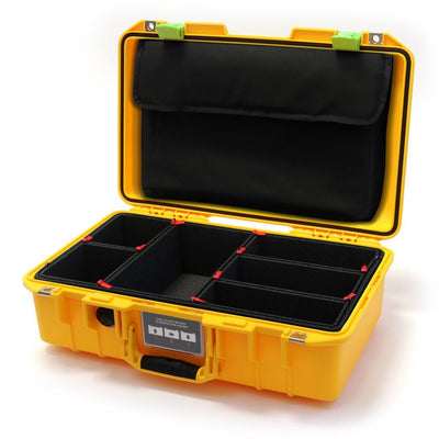 Pelican 1485 Air Case, Yellow with Lime Green Latches - Pelican Color Case