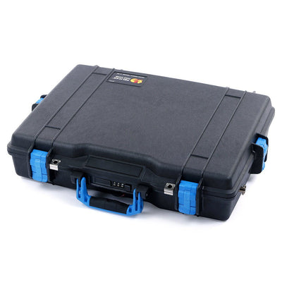 Pelican 1495 Case, Black with Blue Handle & Latches - Pelican Color Case