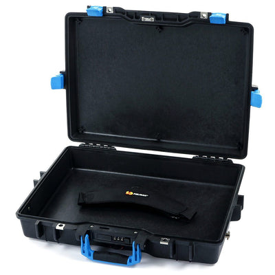 Pelican 1495 Colors Series, Black Protector Case with Blue Handles & Latches, Customizable Accessory Bundles - Pelican Color Case