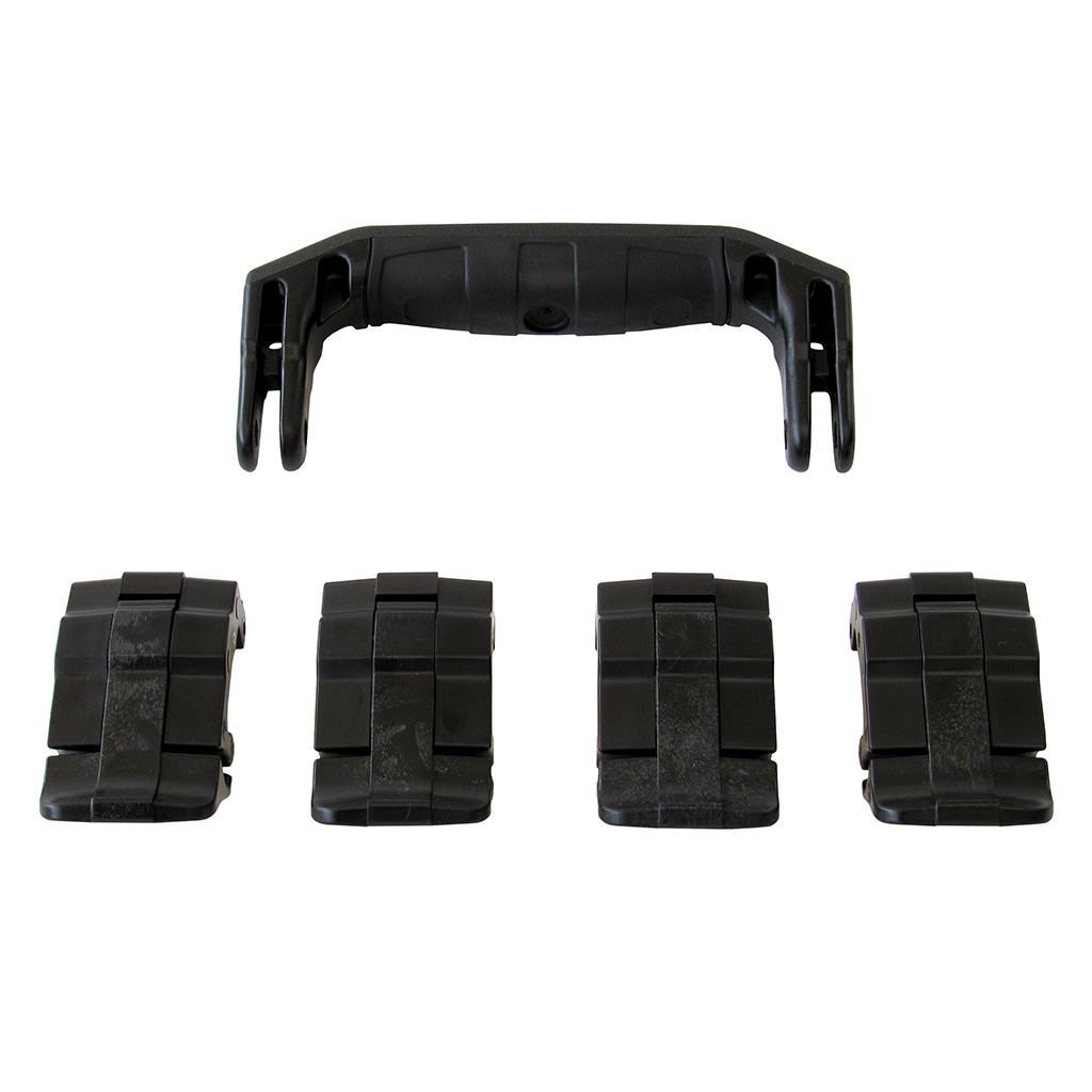 Black Replacement Handle & Latches for Pelican 1495, One Black Handle, 4 Black Latches - Pelican Color Case
