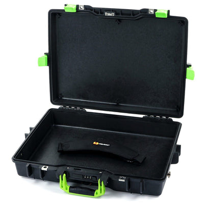Pelican 1495 Colors Series, Black Protector Case with Lime Green Handles & Latches, Customizable Accessory Bundles - Pelican Color Case