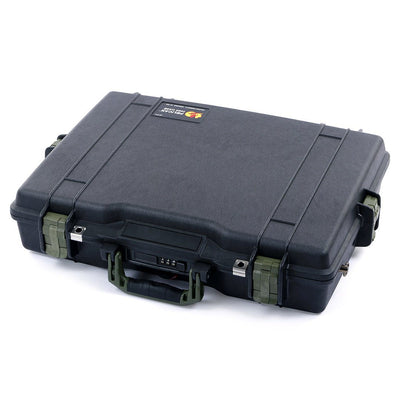 Pelican 1495 Case, Black with OD Green Handle & Latches - Pelican Color Case