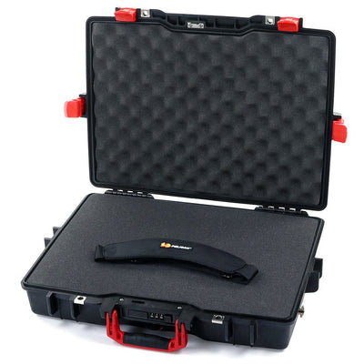 Pelican 1495 Case, Black with Red Handle & Latches - Pelican Color Case