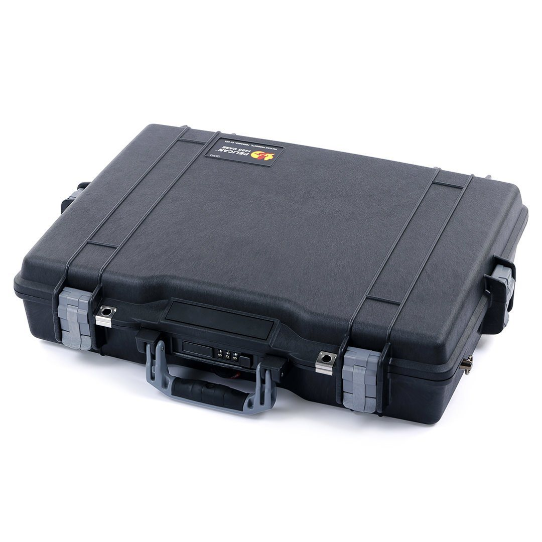Pelican 1495 Case, Black with Silver Handle & Latches - Pelican Color Case