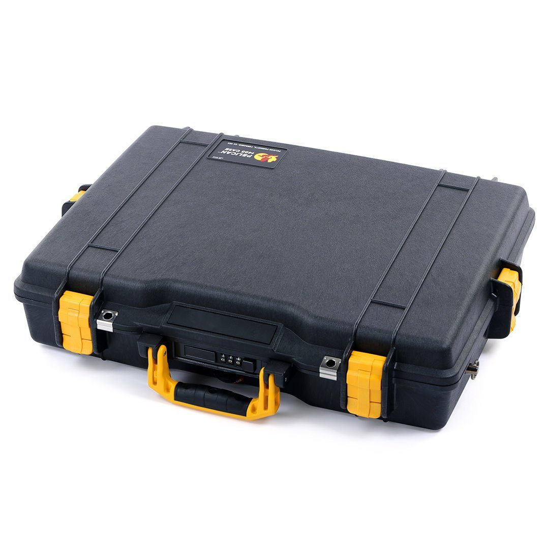 Pelican 1495 Case, Black with Yellow Handle & Latches - Pelican Color Case