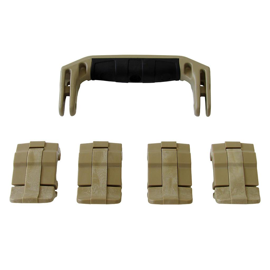 Desert Tan Replacement Handle & Latches for Pelican 1495, One Desert Tan Handle, 4 Desert Tan Latches - Pelican Color Case