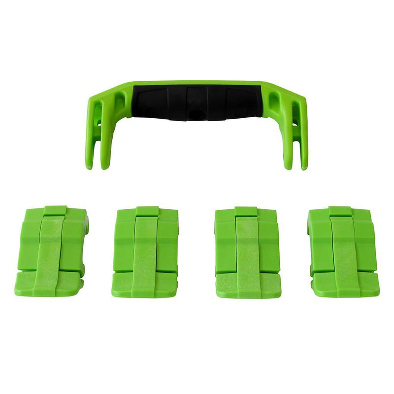 Lime Green Replacement Handle & Latches for Pelican 1495, One Lime Green Handle, 4 Lime Green Latches - Pelican Color Case