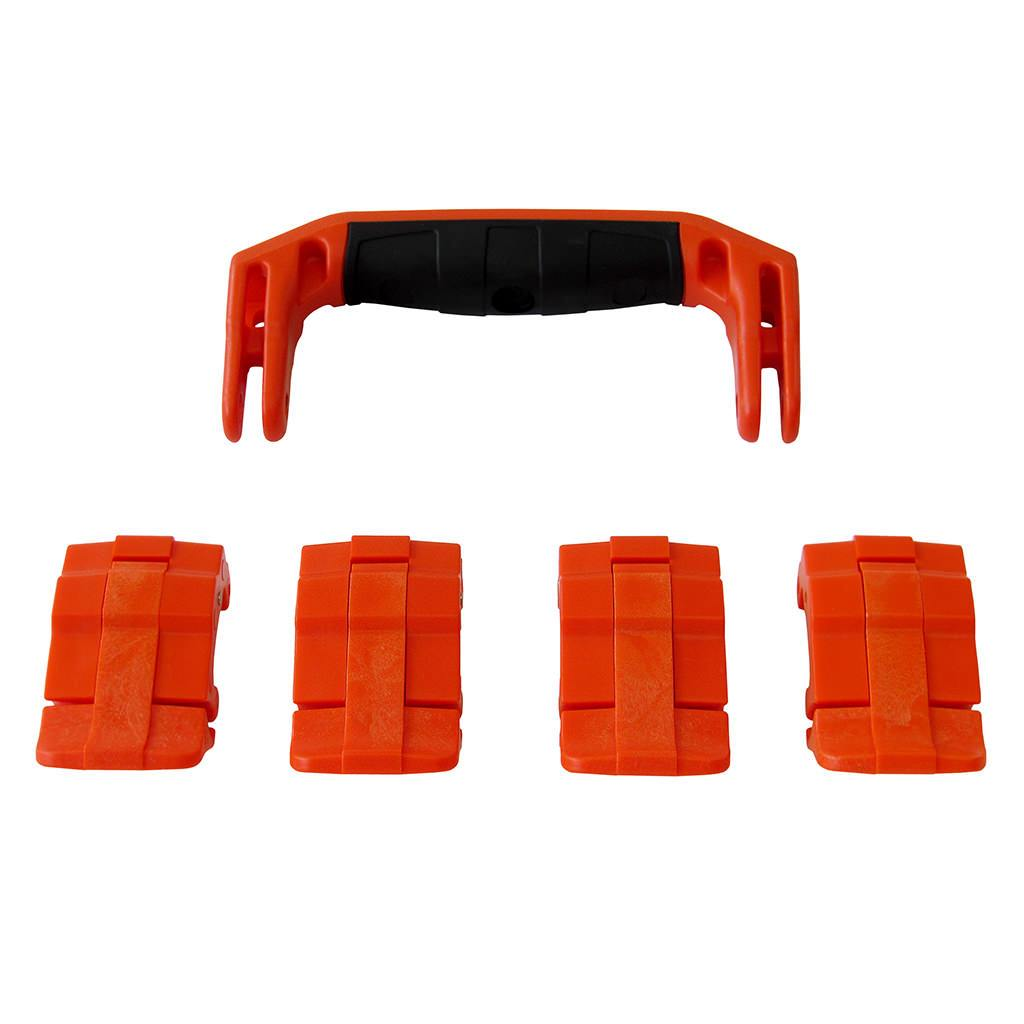 Orange Replacement Handle & Latches for Pelican 1495, One Orange Handle, 4 Orange Latches - Pelican Color Case