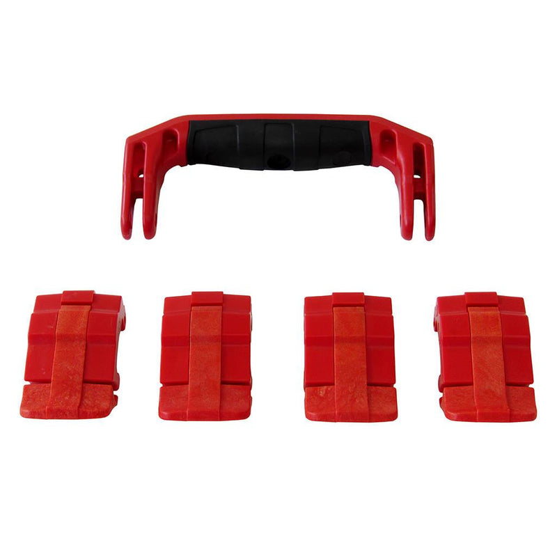 Red Replacement Handle & Latches for Pelican 1495, One Red Handle, 4 Red Latches - Pelican Color Case
