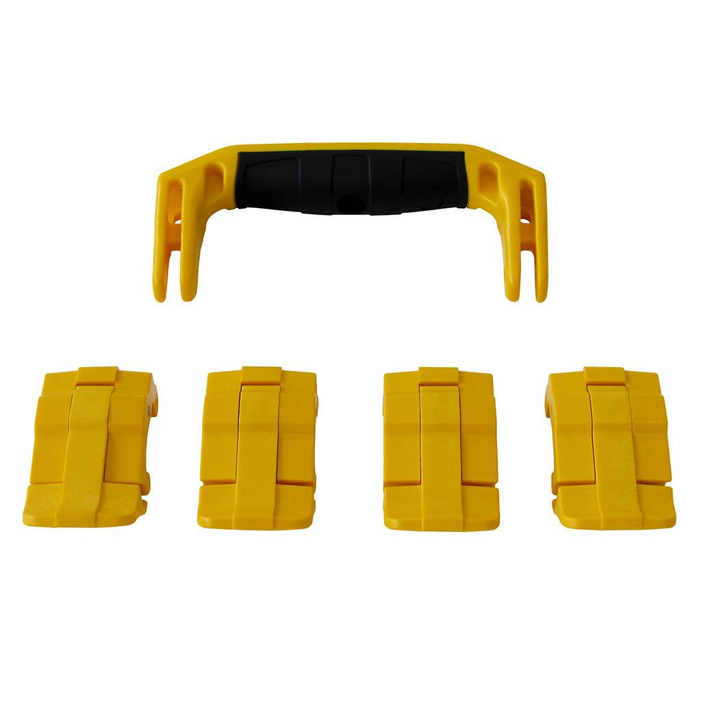 Yellow Replacement Handle & Latches for Pelican 1495, One Yellow Handle, 4 Yellow Latches - Pelican Color Case