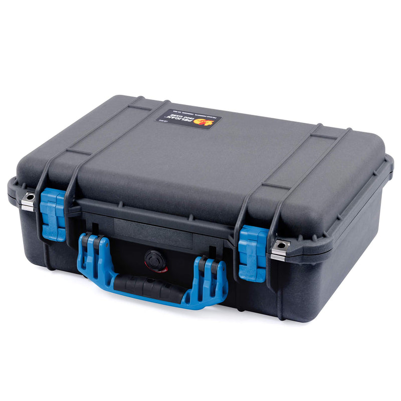 Pelican 1500 Case, Black with Blue Handle & Latches