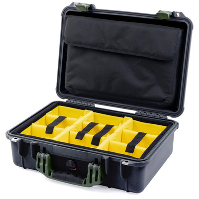 Pelican 1500 Case, Black with OD Green Handle & Latches