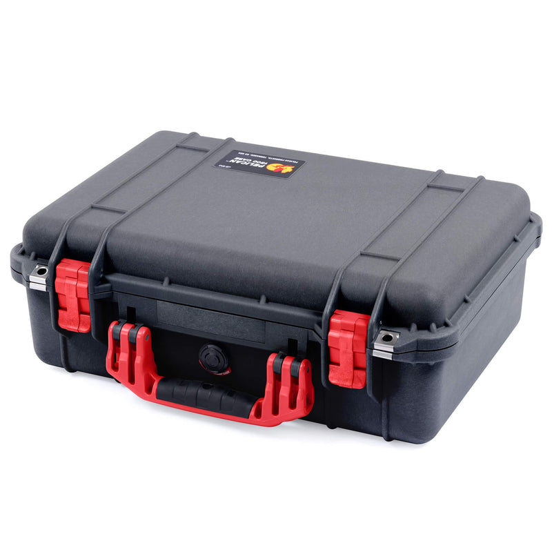 Pelican 1500 Case, Black with Red Handle & Latches