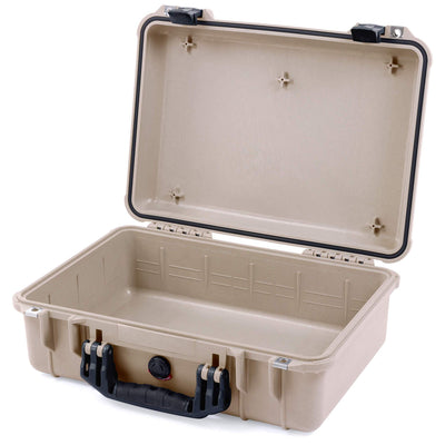 Pelican 1500 Case, Desert Tan with Black Handle & Latches