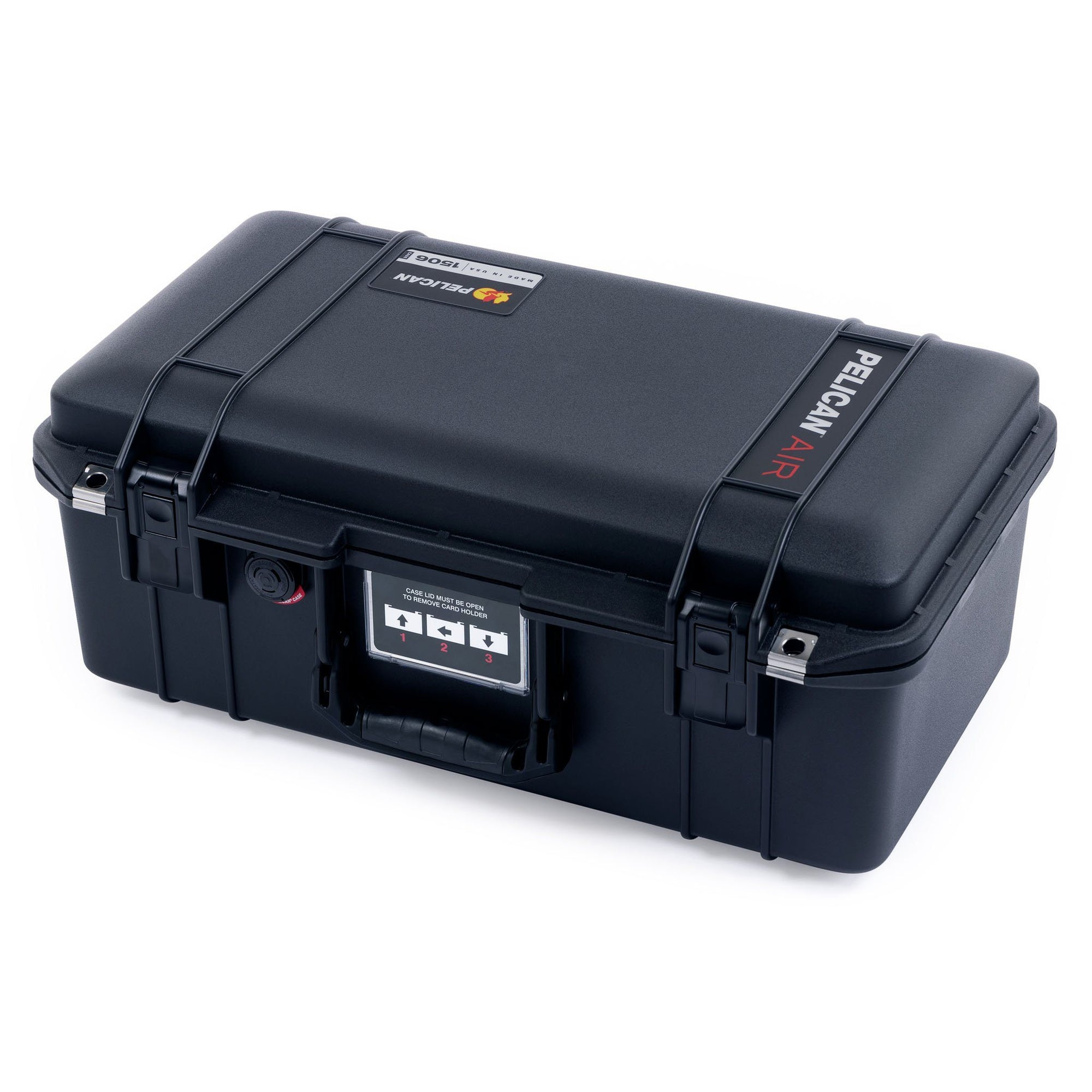 Pelican 1506 Air Case, Black with Press & Pull™ Latches - Pelican Color Case